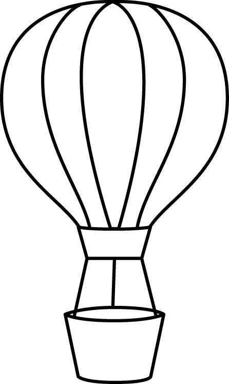 Hot Air Balloon Clipart Black And White