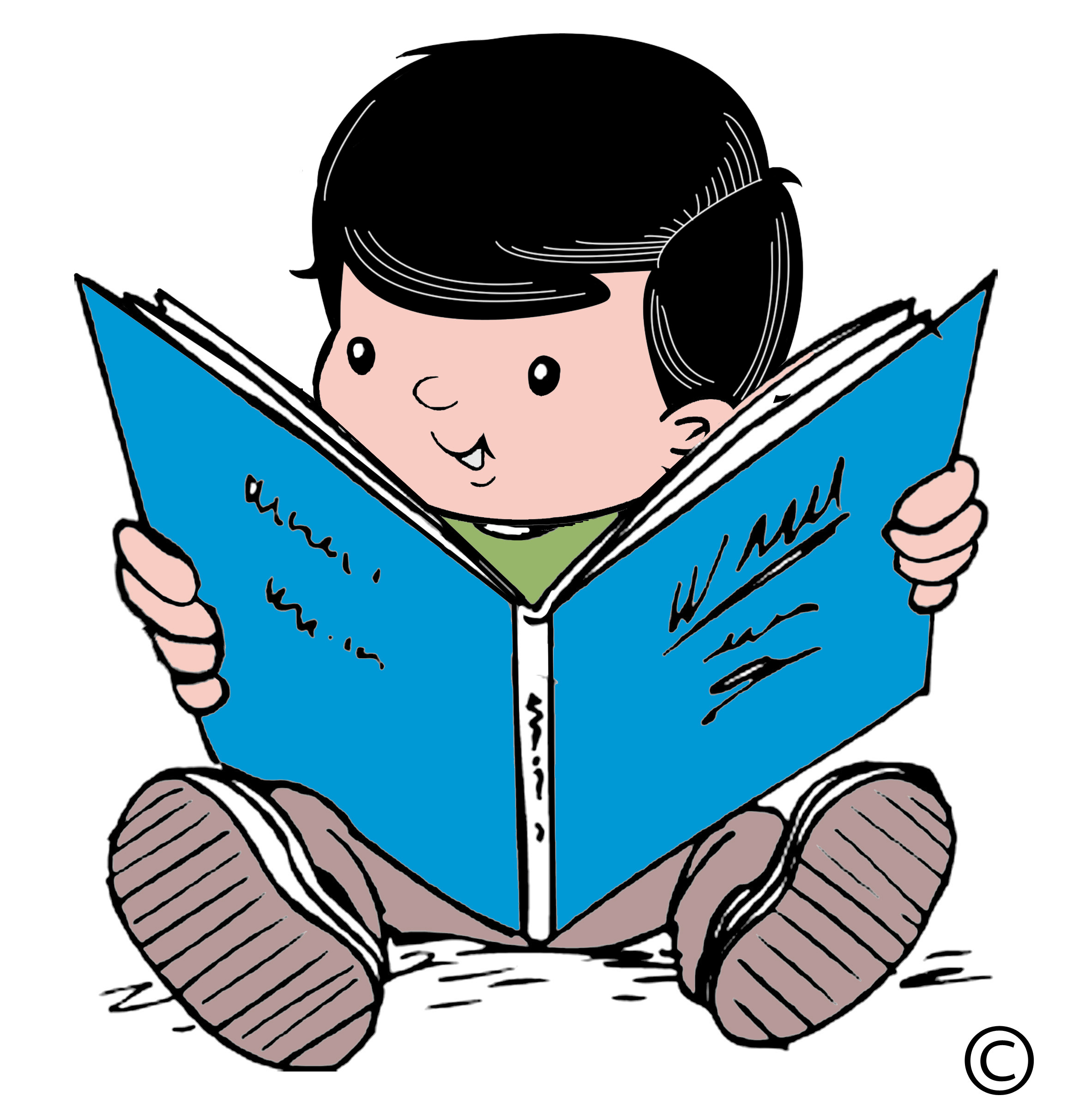 Kid Reading Clipart