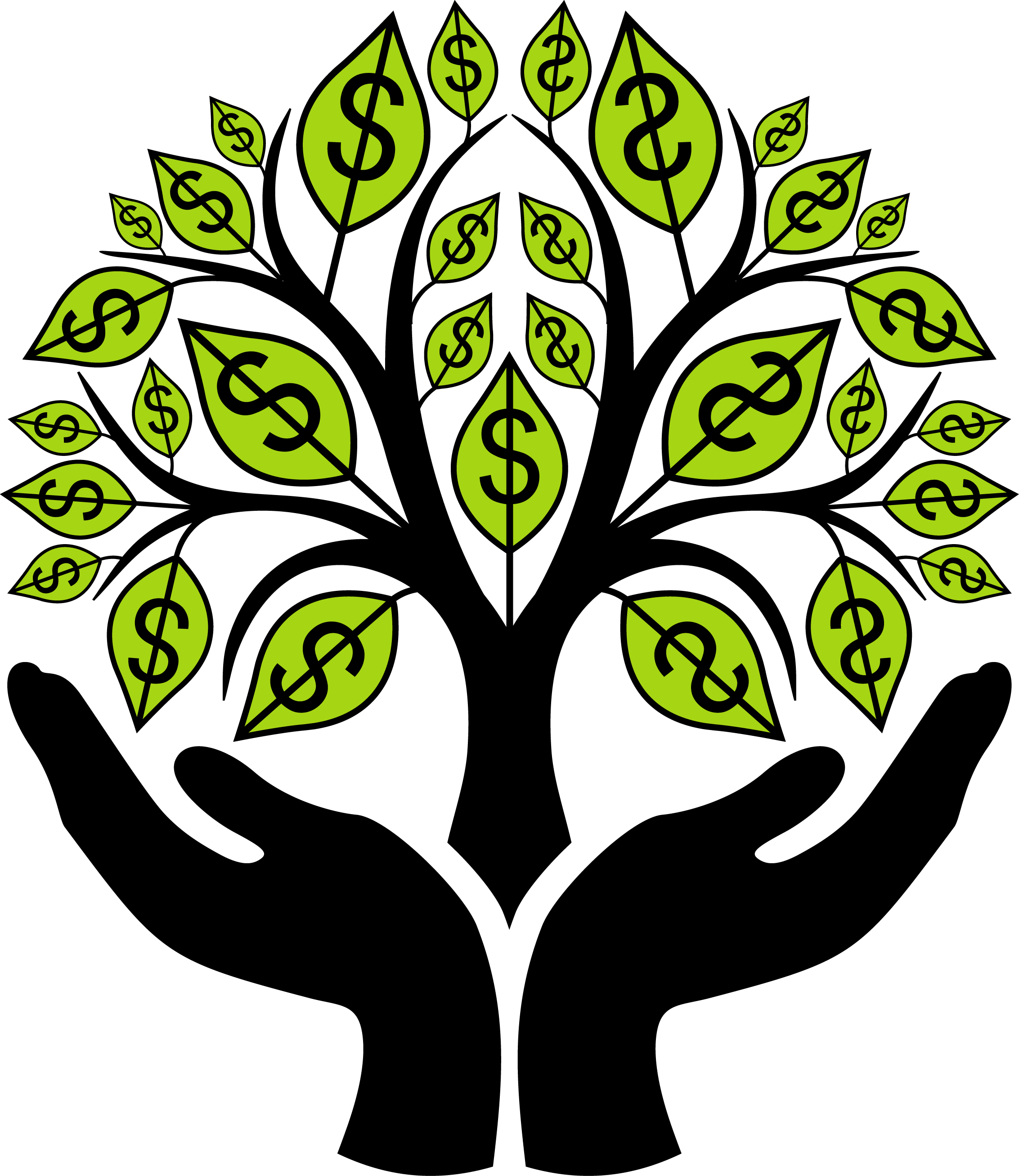 Money  black and white money tree clipart black and white clipartfest christmas