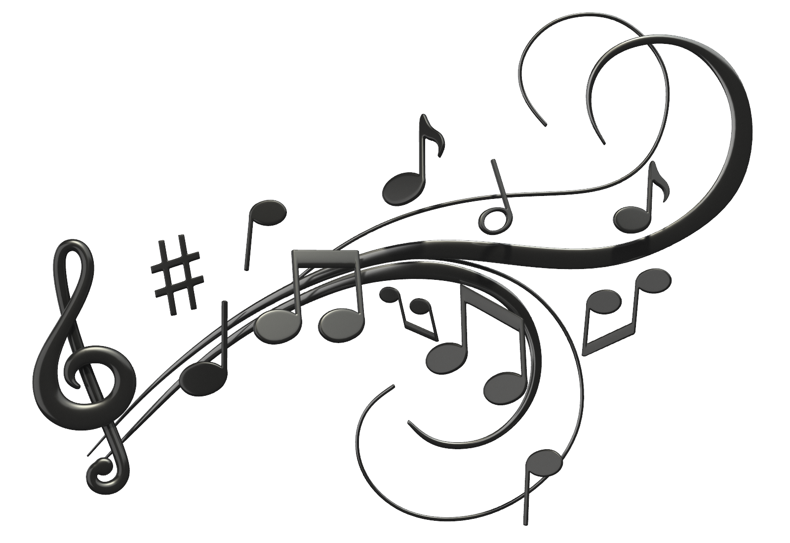 Music notes  black and white jazz music notes clipart