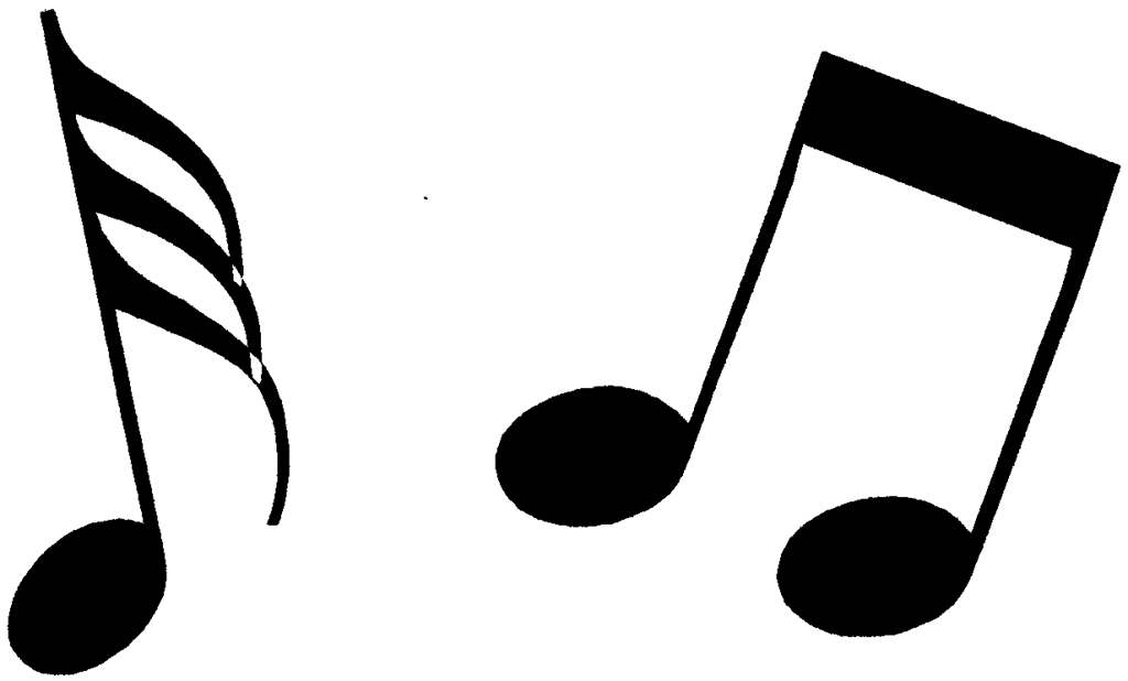 Music notes  black and white music notes clipart black and white free 5