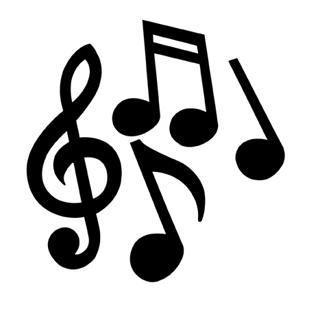 Music notes  black and white music notes clipart black and white synkee