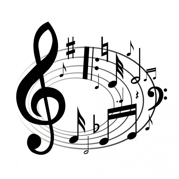 Music notes  black and white music notes musical clip art free music note clipart 6 wikiclipart