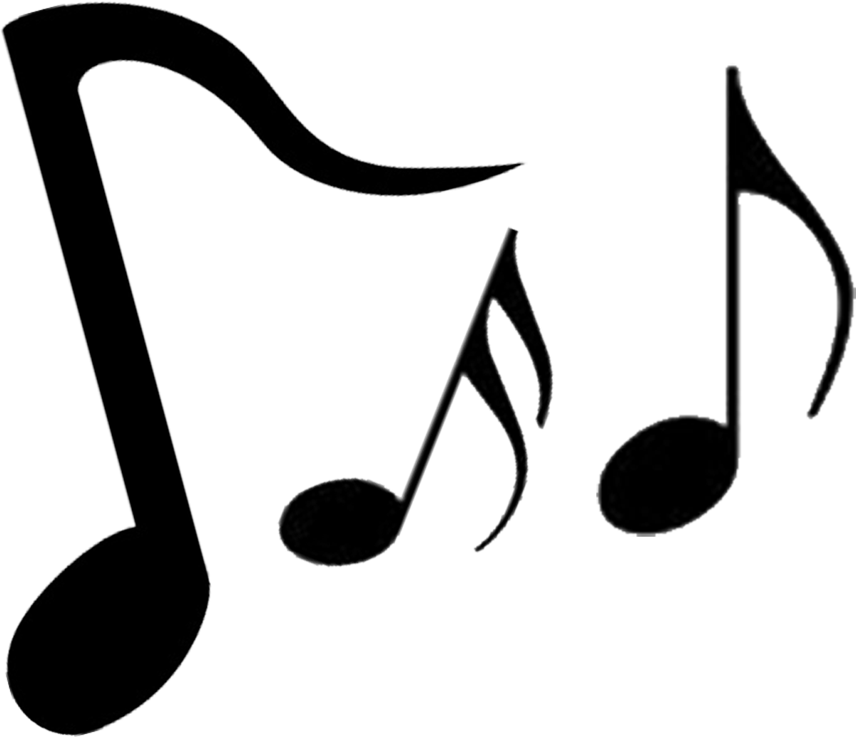 Music notes  black and white music notes musical clip art free music note clipart image 1