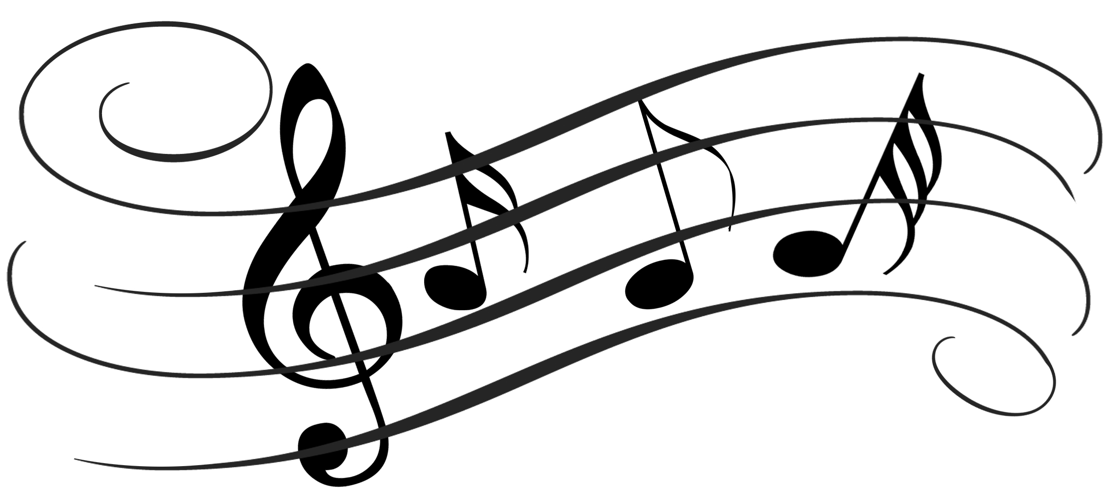 Music notes  black and white musical instruments black and white christmas clipart