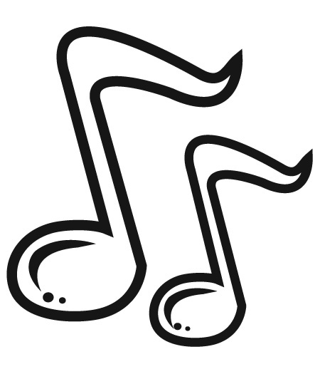 Music staff music notes clipart