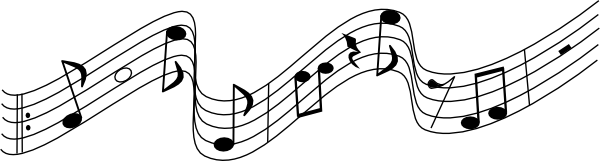 Music staff music notes on staff clipart free images