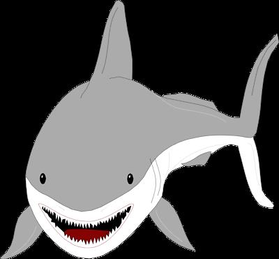 Shark fin clip art smiling clipart size 3