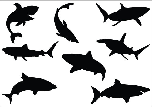 Shark fin clip art smiling clipart size 4