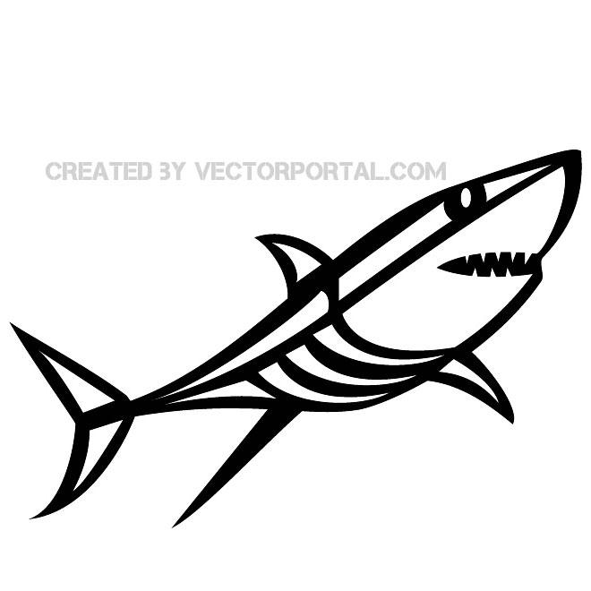 Shark fin shark clip art image free vector freevectors