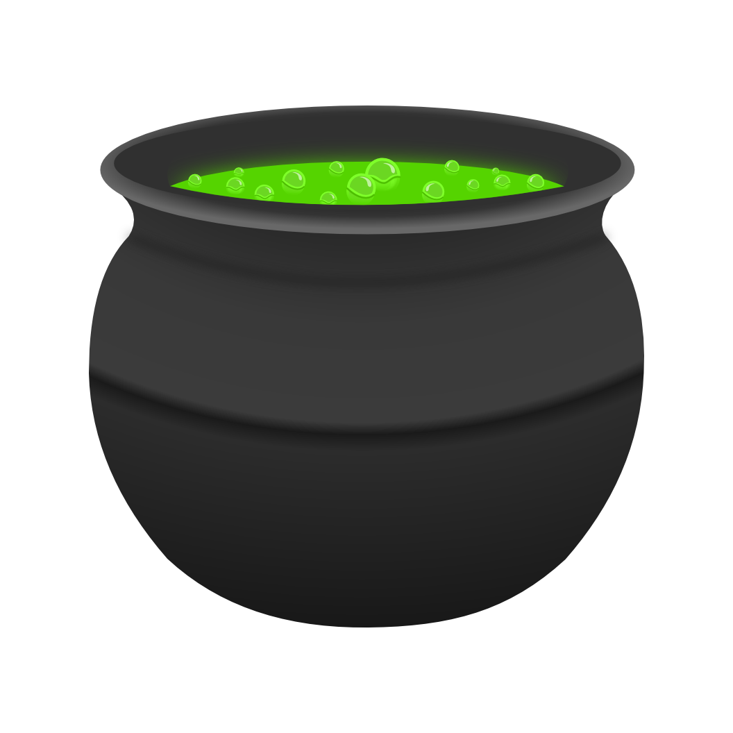 Witches cauldron clipart