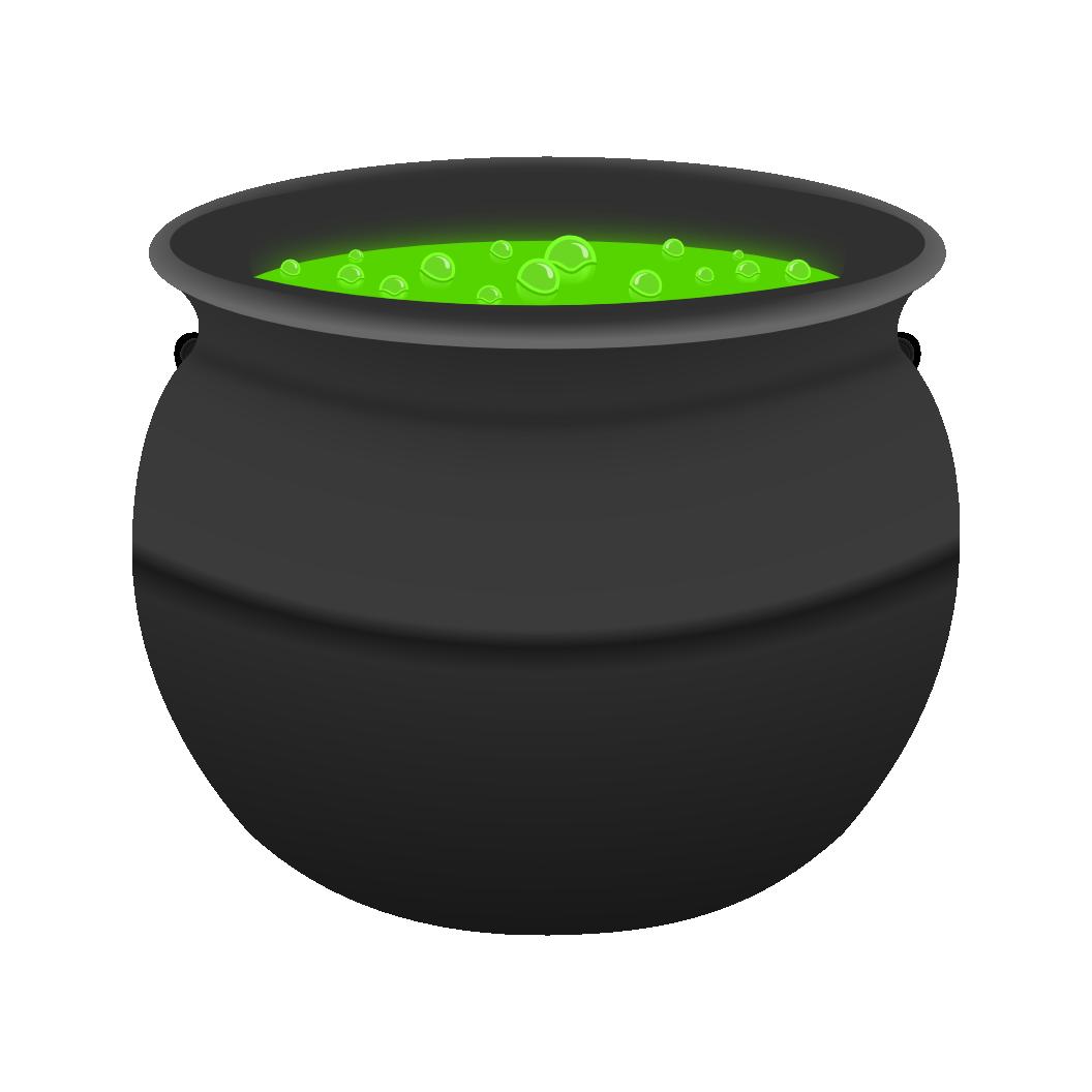 Witches cauldron clipart