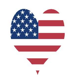 Go team usa love usa heart clip art clip art big collections