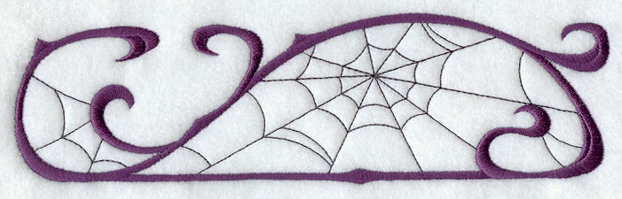 Machine embroidery designs at library spider web border