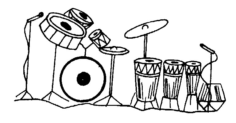 Music  black and white free band music collection 6 clip art