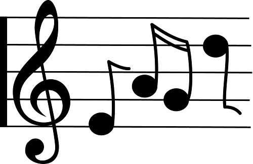 Music  black and white music clipart
