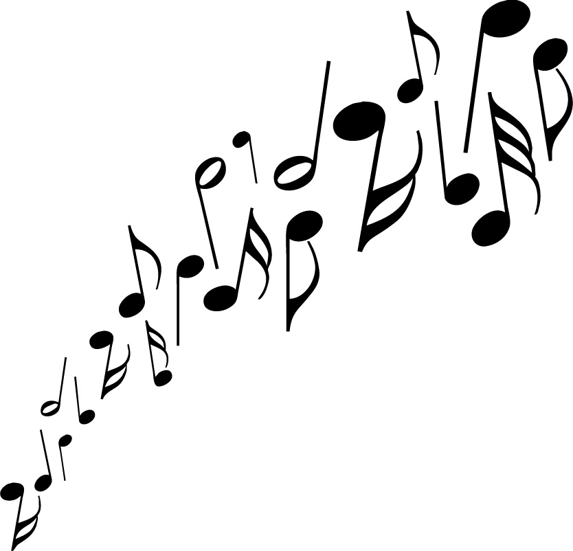 Music  black and white music notes black and white music clipart 2 2