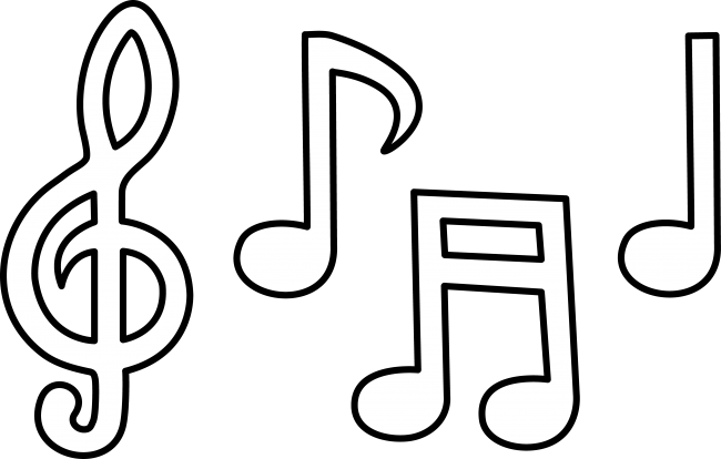Music  black and white music notes black and white music clipart