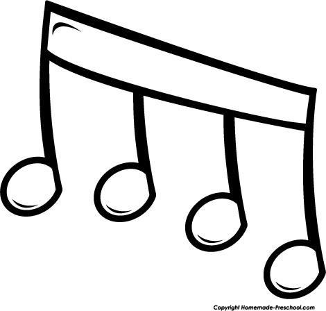 Music  black and white music notes black and white music musical clip art free 4