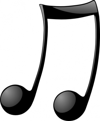 Music  black and white music notes black and white music note clip art 2
