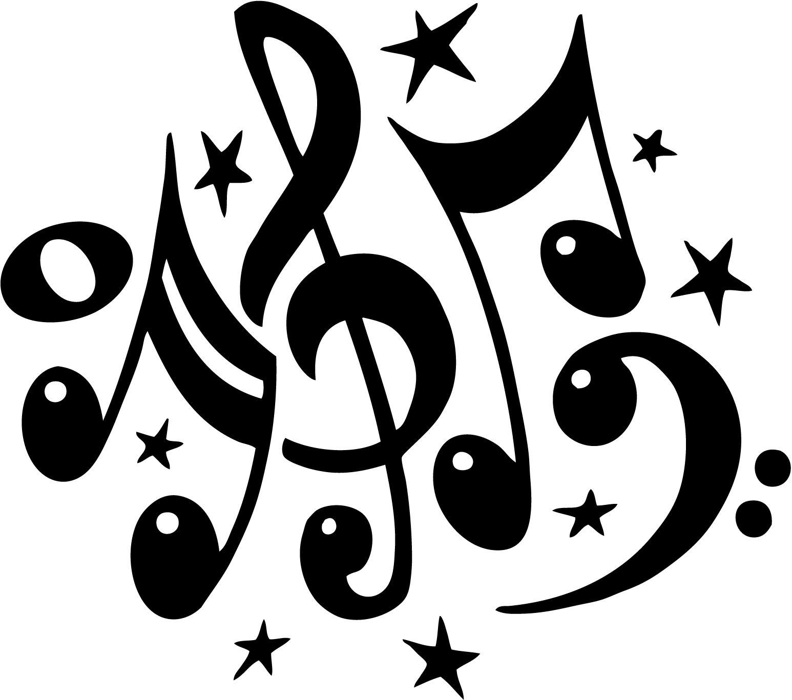 Music  black and white music notes black and white musical music clipart 2
