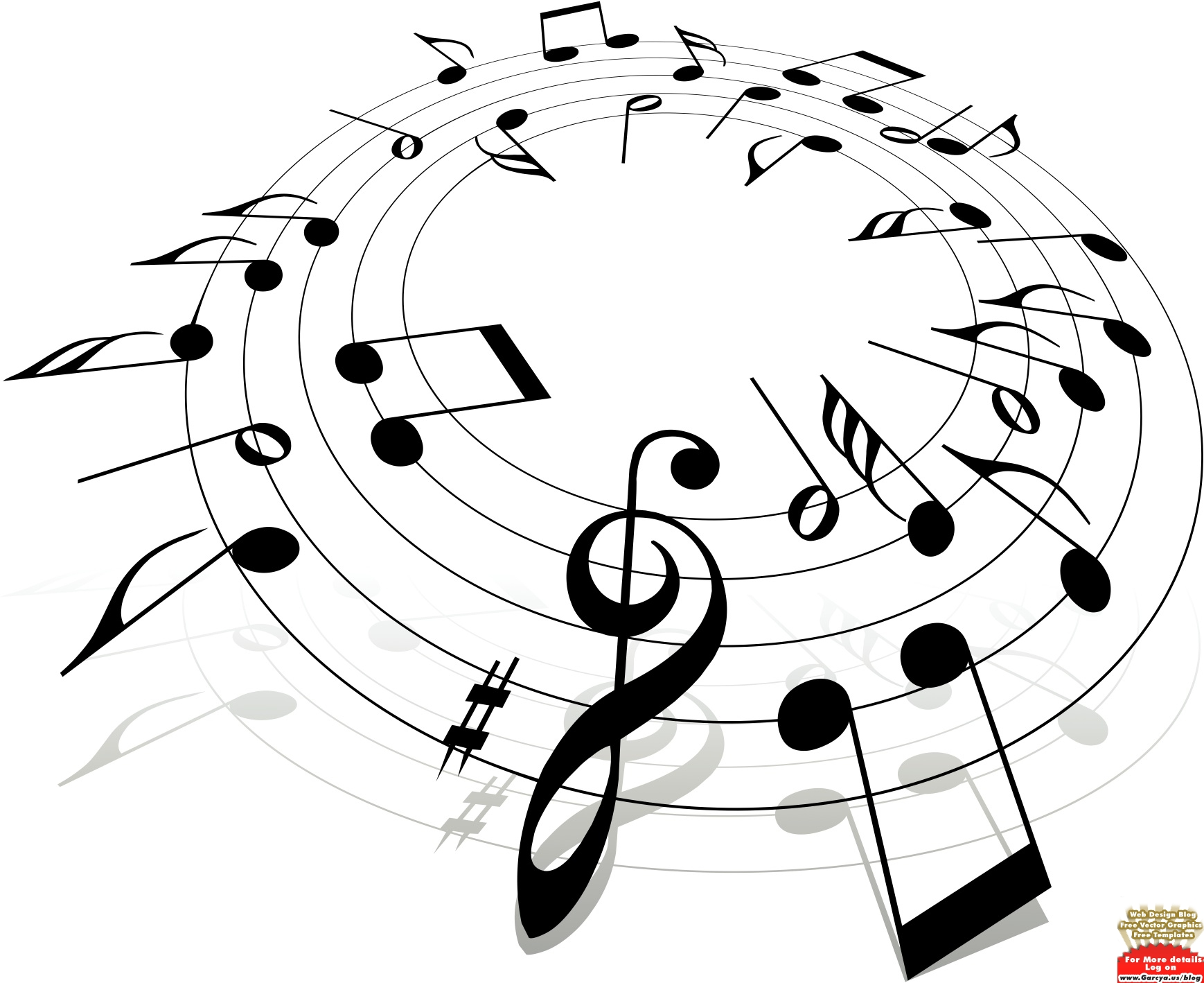Music  black and white music notes clipart black and white free 11