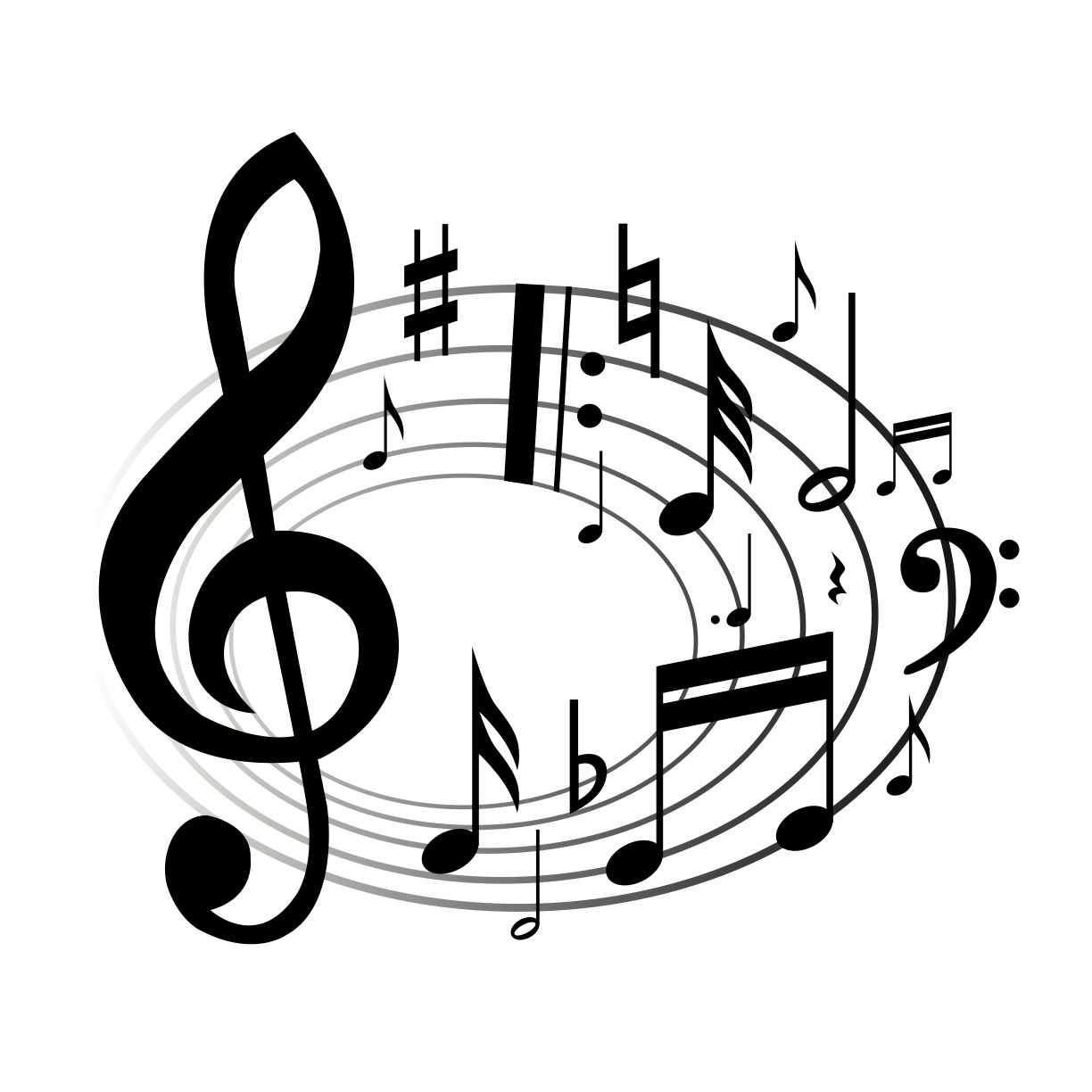 Music  black and white music notes clipart black and white free 8