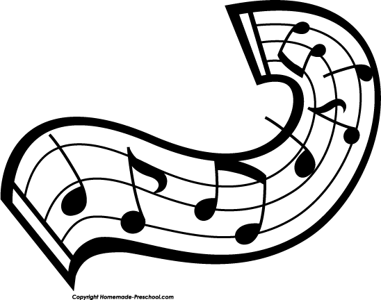 Music  black and white music notes clipart black and white free 9