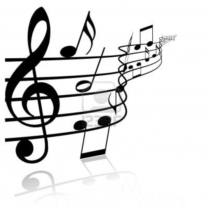Music  black and white music notes clipart black and white