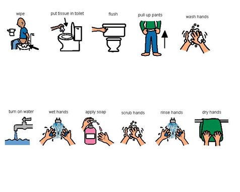 Potty free pre clipart autism place a picture chart next to the