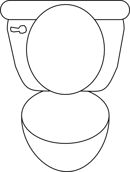 Potty toilet clip art at vector clip art