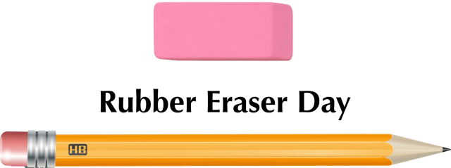 Rubber eraser day clip art