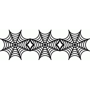 Silhouette design store view spider web border