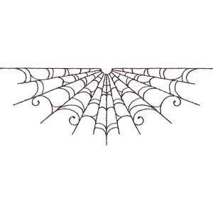 Spider web border all hallows' eve halloween embroidery designs