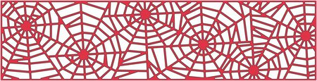 Spider web border cheery lynn spider web mesh border halloween die