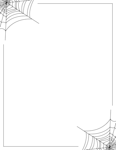 Spider web border christmas borders and more