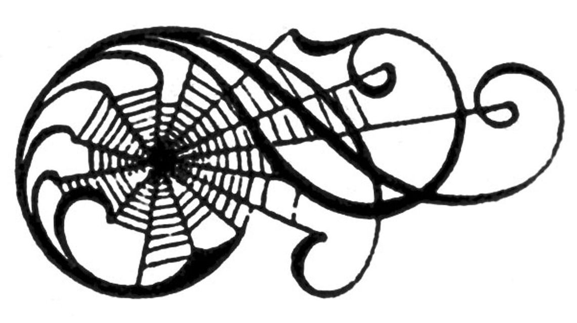 Spider web border clipart free images 13