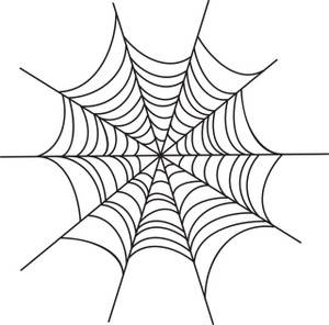 Spider web border clipart free images 3 3