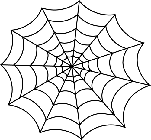 Spider web border clipart free images 3 5