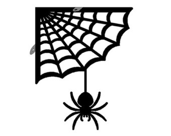 Spider web border clipart free images 3 6