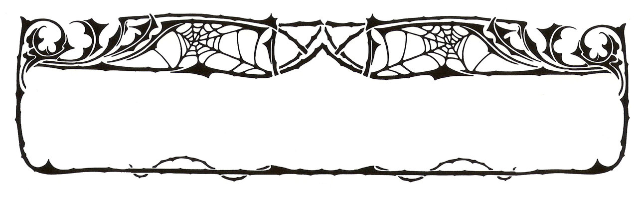 Spider web border clipart free images 3