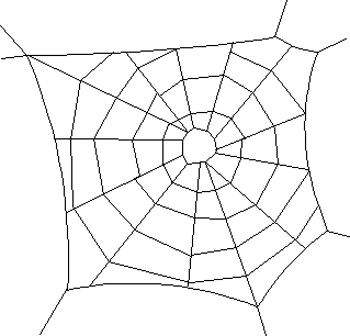 Spider web border clipart free images 6 4