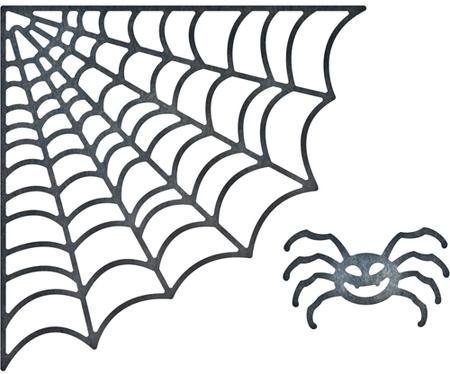 Spider web border frantic stamper halloween dies spiderweb corner spider fra die
