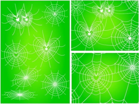 Spider web border free vector download 9 free for 3