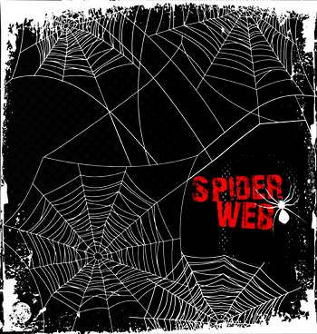 Spider web border free vector download 9 free for 4