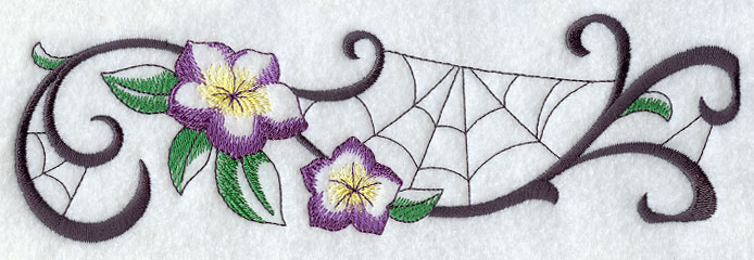 Spider web border machine embroidery designs at library spider web