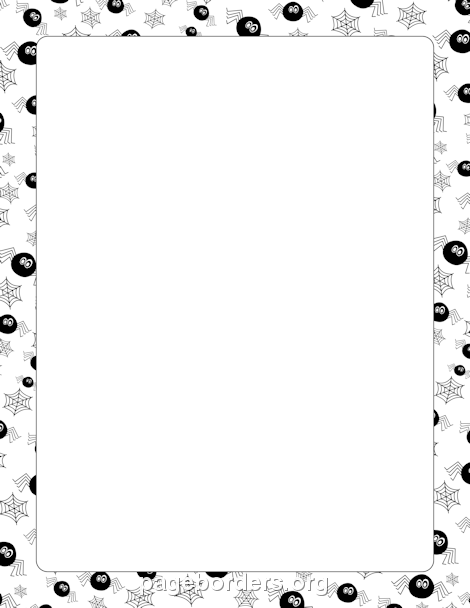 Spider web border spider border clip art page and vector graphics