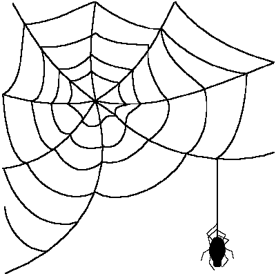 Spider web border spider web clip art