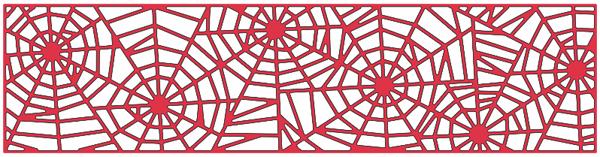 Spider web border spider web mesh border cheery lynn designs die