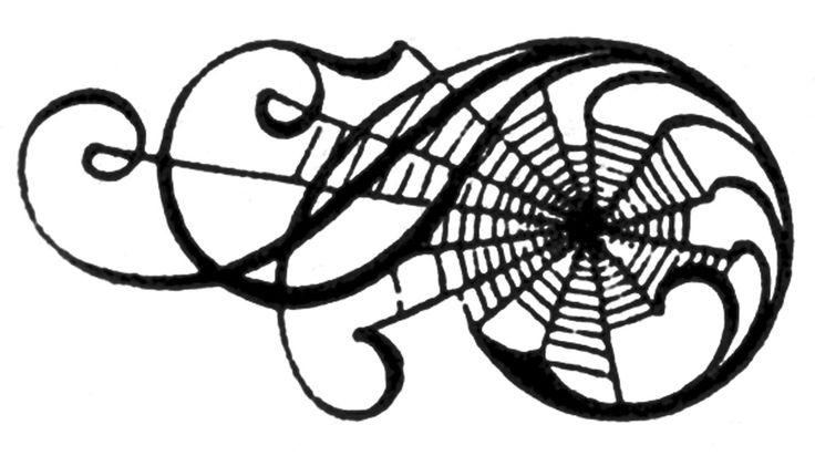 Spider web border spider web spiders clip art clipart